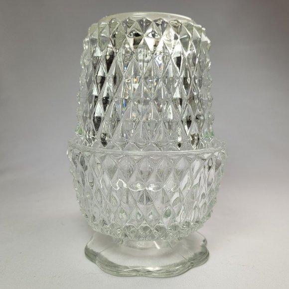 Vintage Diamond Point Fairy Light Candle Holder